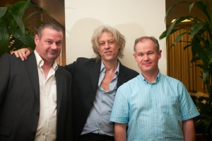 Dave and I with Bob Geldof at the Chris Cardell Conference, copyright Cardell Media